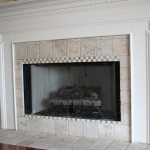 Retiled the fireplace Surround