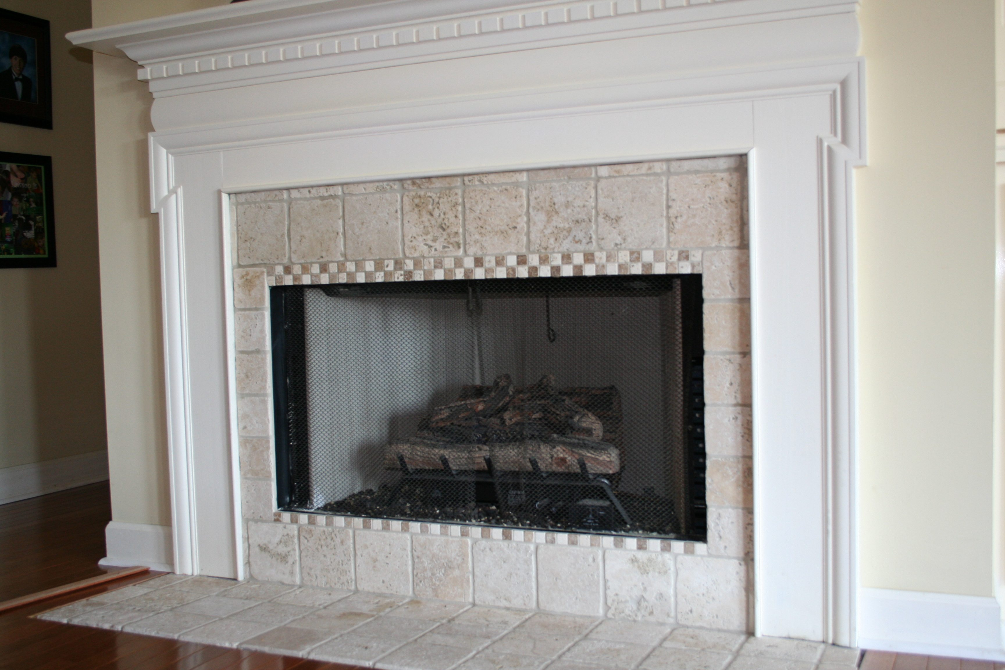 Tile On The Fireplace Surround Refresh Restyle