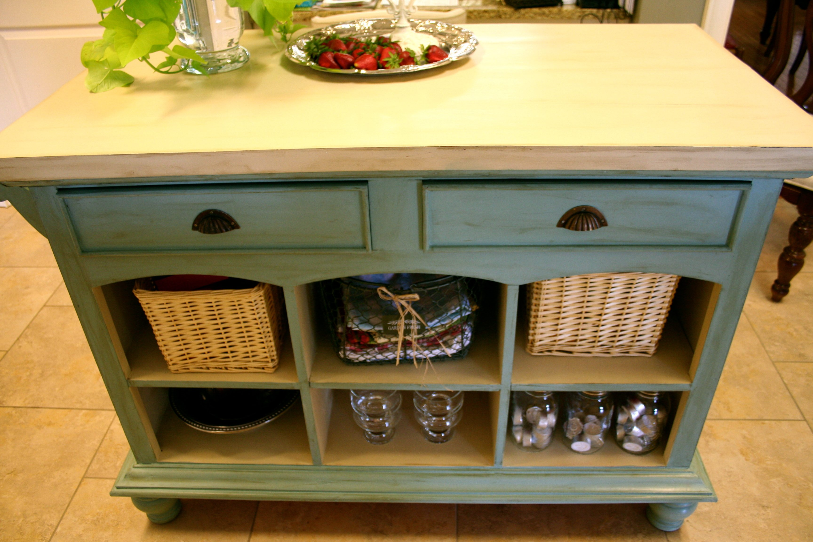 Favorites of 2011 refresh restyle for Duck egg blue kitchen island