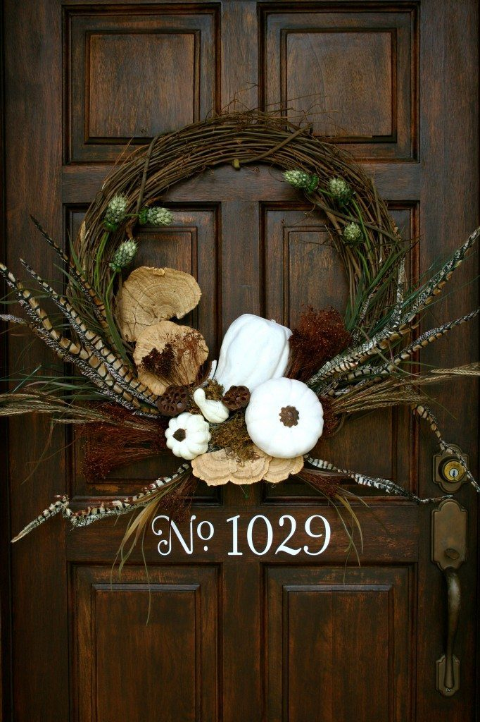 How to make a White pumpkins wreath