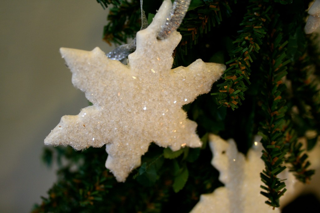 Christmas ornament made from Cloud Clay