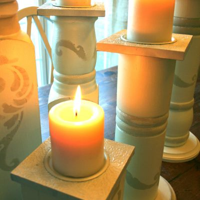 Create Candle holders from a Porch Post