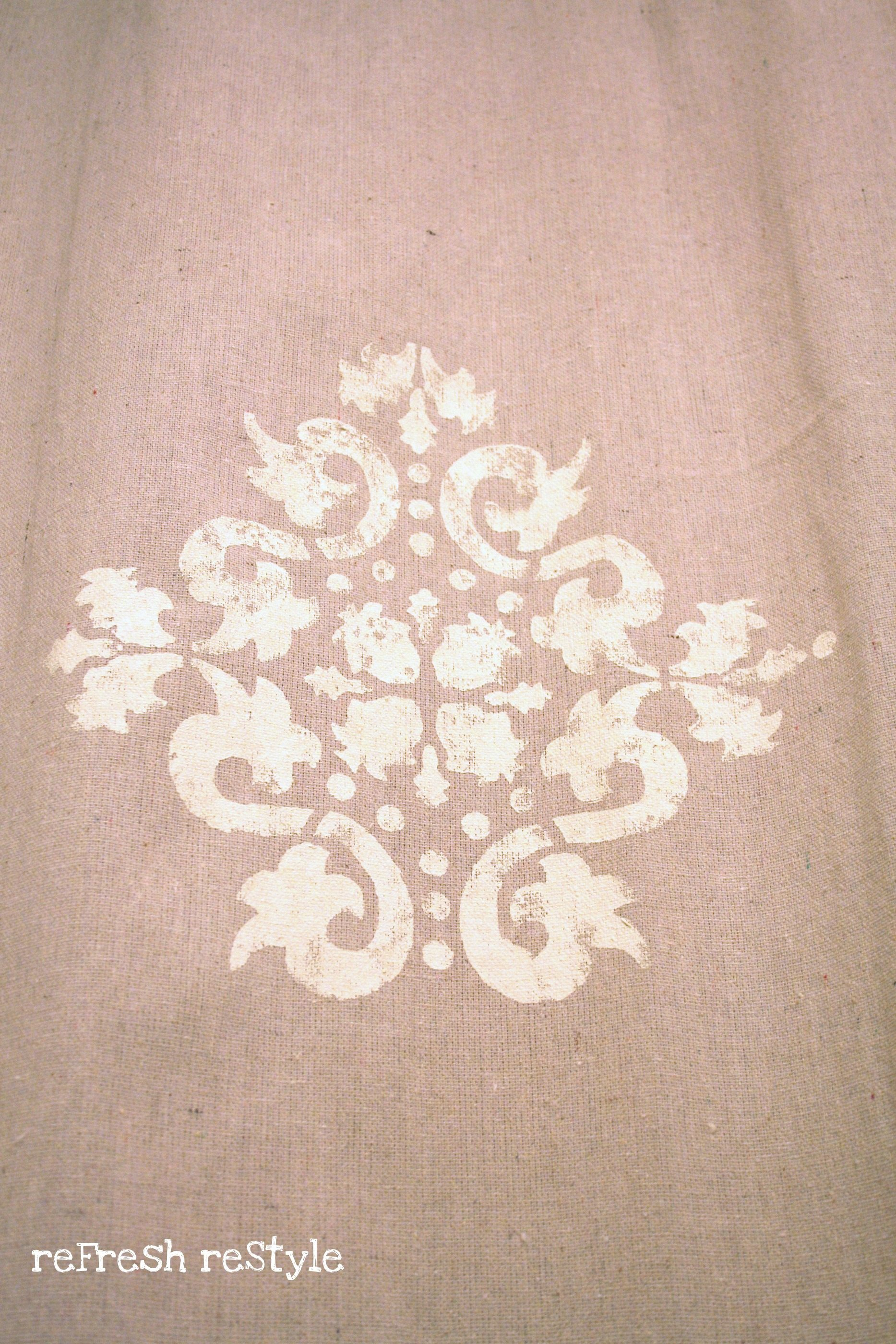 Fabric Painting Curtains Stencil