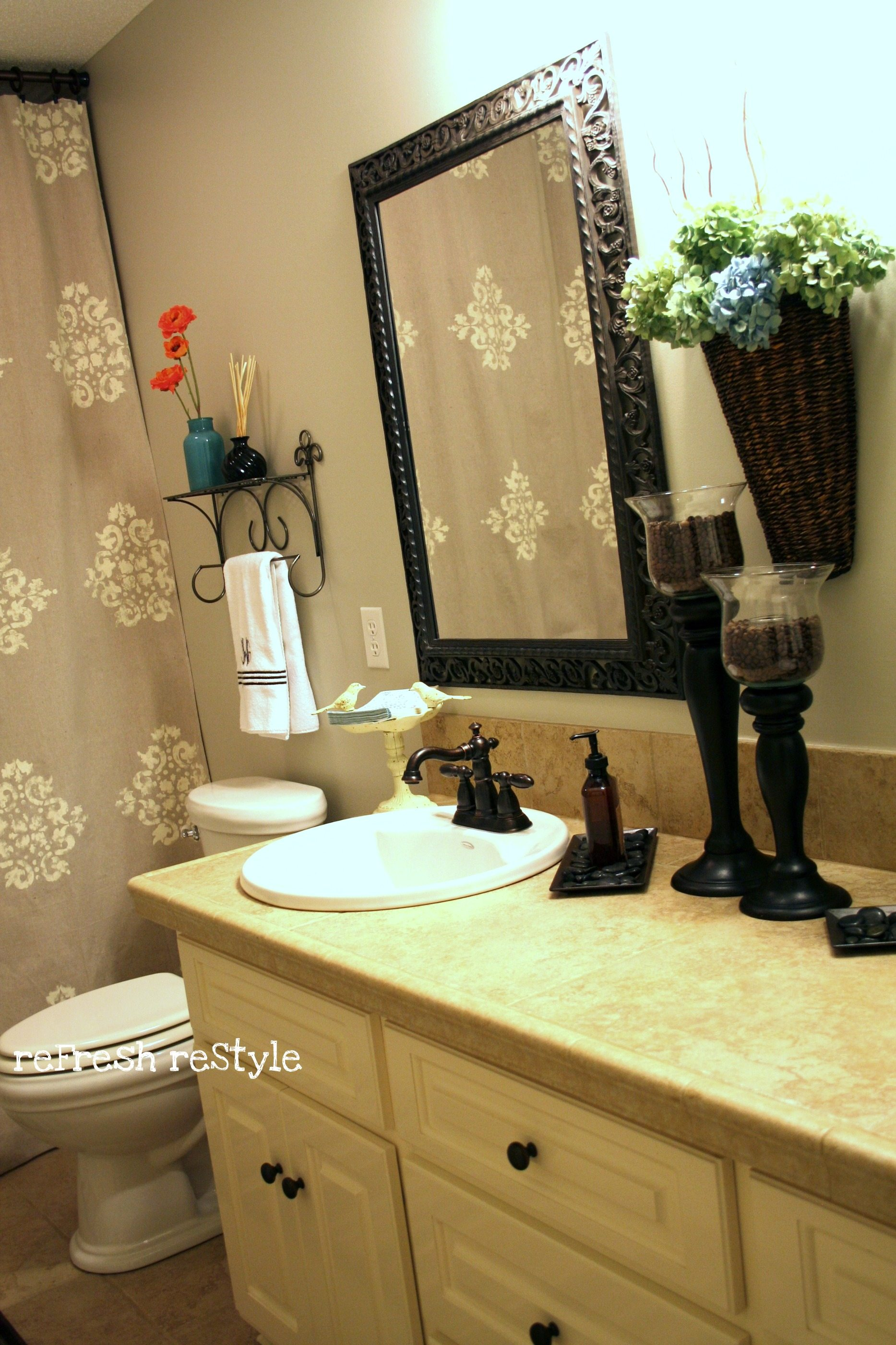 painted shower curtain refresh restyle how to paint a shower curtain made from a drop cloth