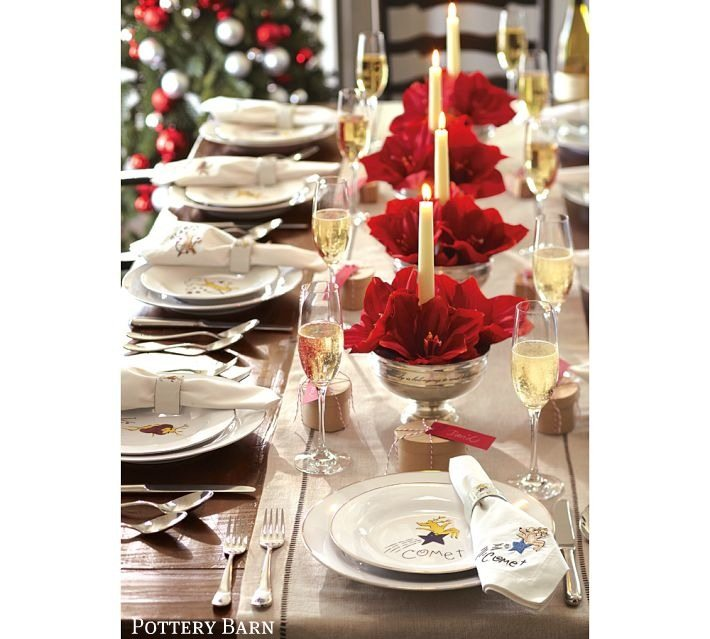 Holiday Decor Gift Ideas Pottery Barn Edition All My: Christmas Tablescape