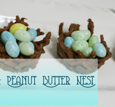 The Nest made of Chocolate and Peanut Butter