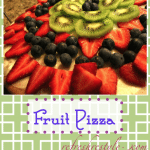 Fruit Pizza with cookie crust