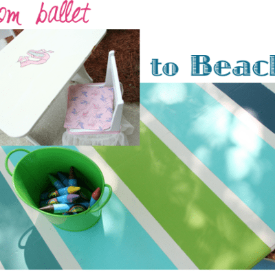 Beach Inspired Table Makeover