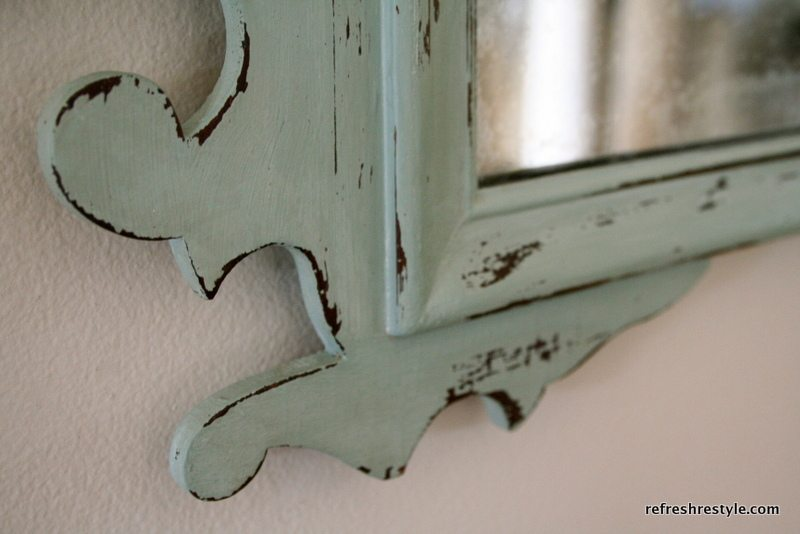 Mirror Makeover with  Annie Sloan Duck Egg Blue