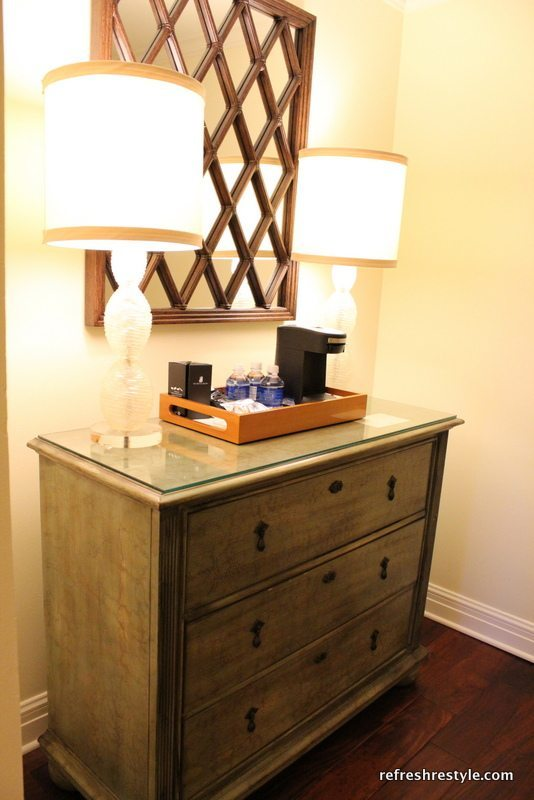 Coffee Maker In The Bedroom : DIY never takes a Vacation Refresh Restyle
