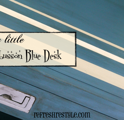 Aubusson Blue Desk Annie Sloan Chalk Paint