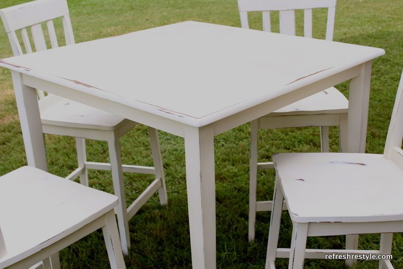 hightop table and chairs makeover