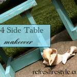 2x4 Side Table Makeover