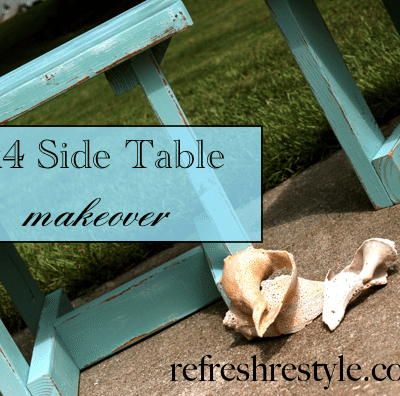 2×4 Side Table Makeover