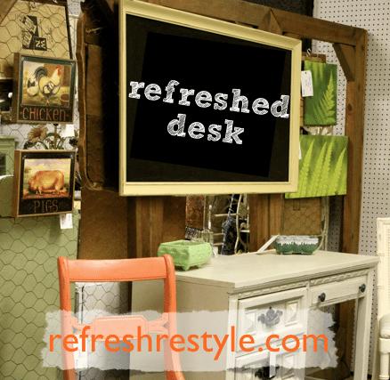 Thrifty Desk Makeover