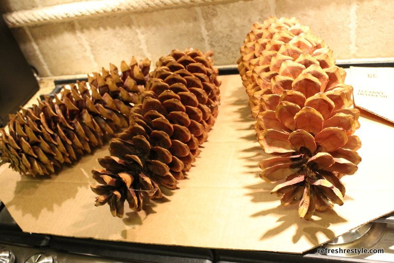 How to bake pine cones for crafting