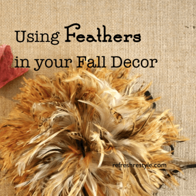 Feathers in Your Fall Decor