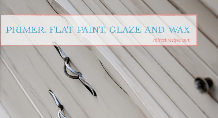 Using glaze and wax