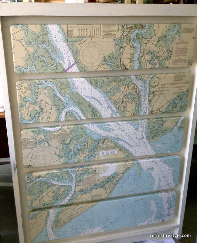 Mod Podge Map Dresser Refresh Restyle