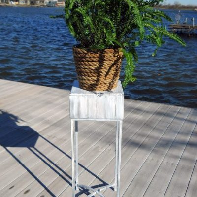 Old Plant Stand Makeover