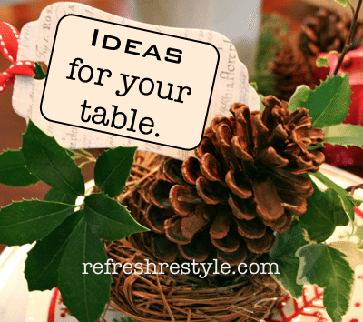 Ideas for Your Holiday Table {Natural and Cheap}