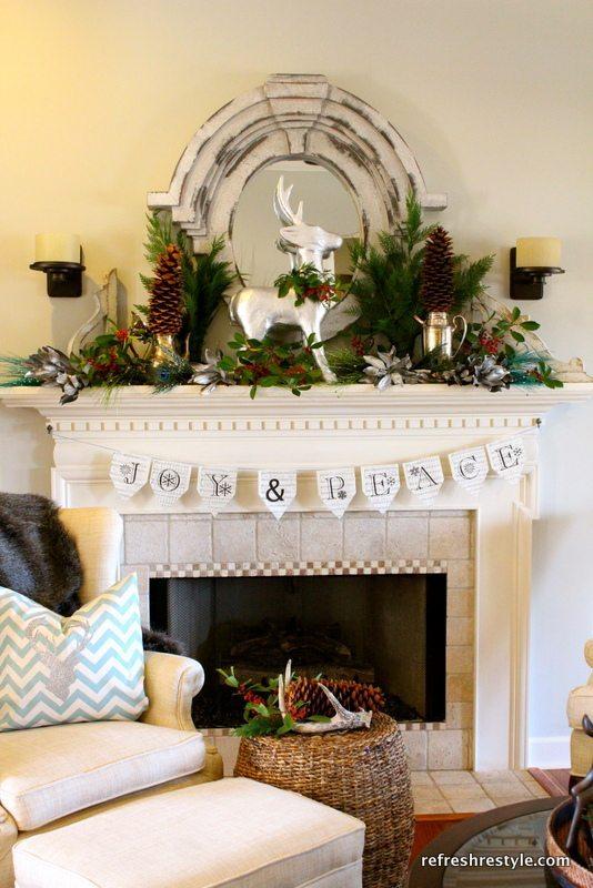 Christmas Mantel – Decorated Mantels