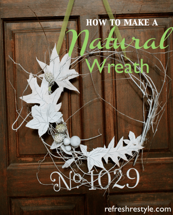 How to create a natural wreath