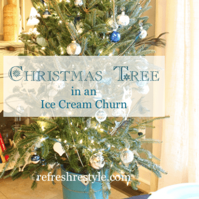 Christmas Tree in an Ice Cream Churn