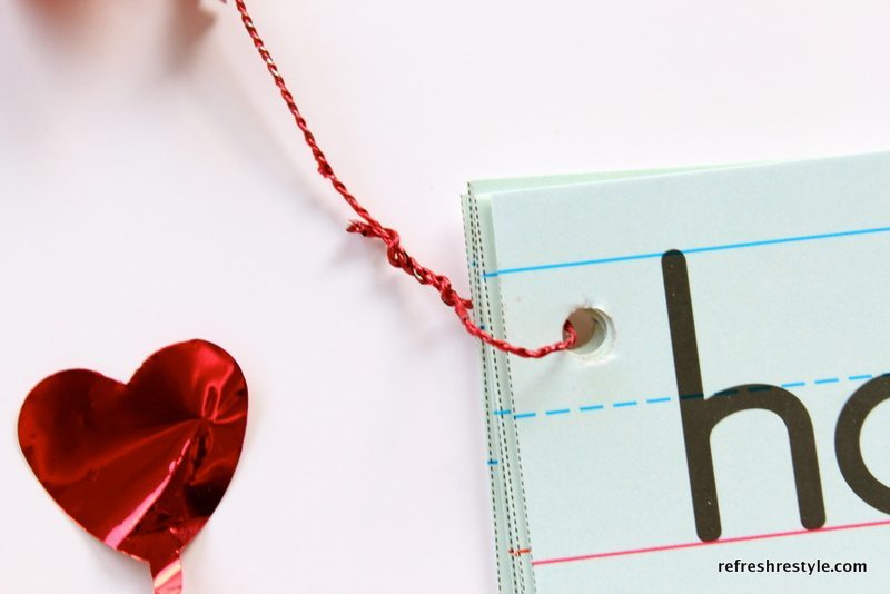 Dollar store hears on wire - Make your own Valentine's Day Card