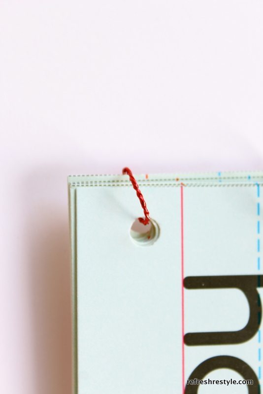 wire circle - How to make a Valentine's Day Card