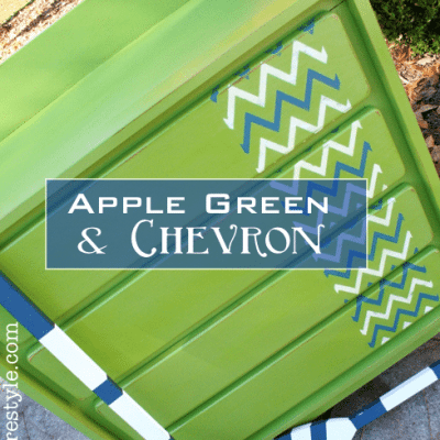 Chevron and Apple Green