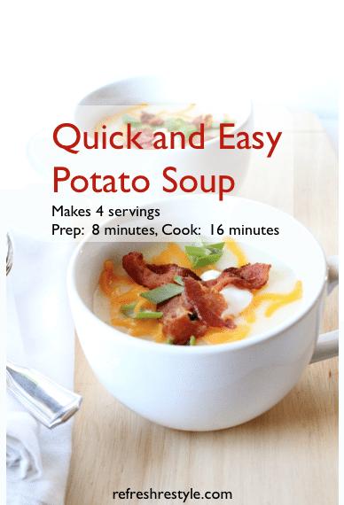 Potato Soup #recipe quick and easy