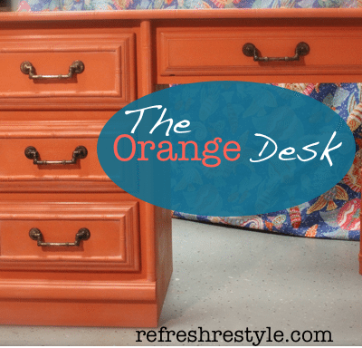 The Orange Crush Desk Makeover