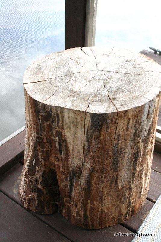 Deck Furniture Walmart Tree Stump Side Table | Refresh Restyle