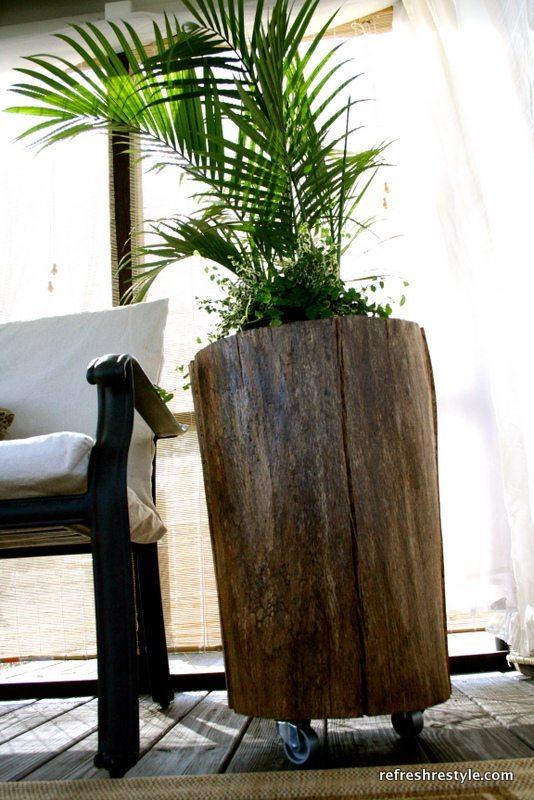 tall stump table
