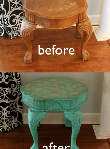 Cutting Edge Stencils -Table Makeover plus a Giveaway!