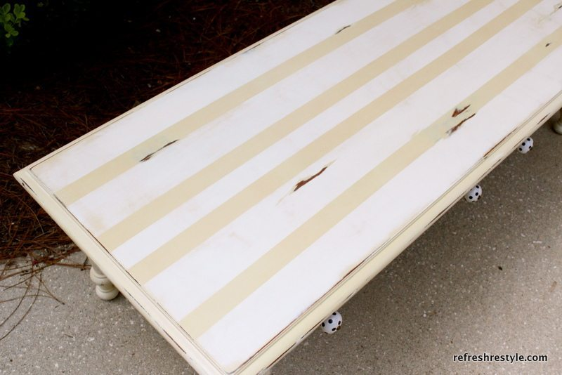 stripped coffee table