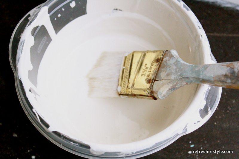 How to paint a China Hutch - Cream glaze
