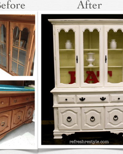 China Hutch Make over {refreshing and light}
