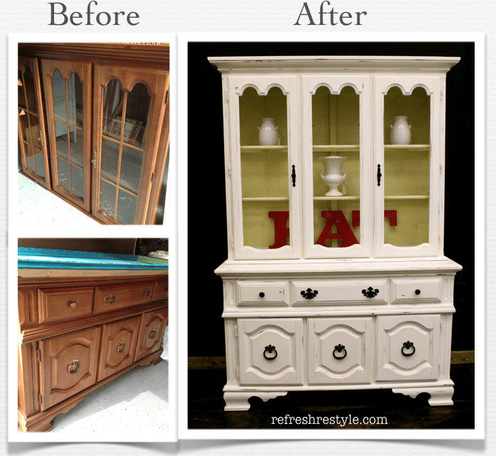 How to paint a China Hutch