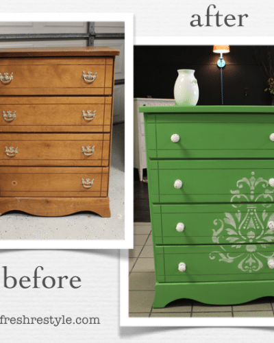 Green is the New Black {reFreshed furniture}