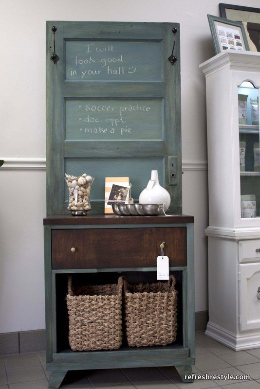 Repurposed Door Hall Tree - DIY Project for using old doors