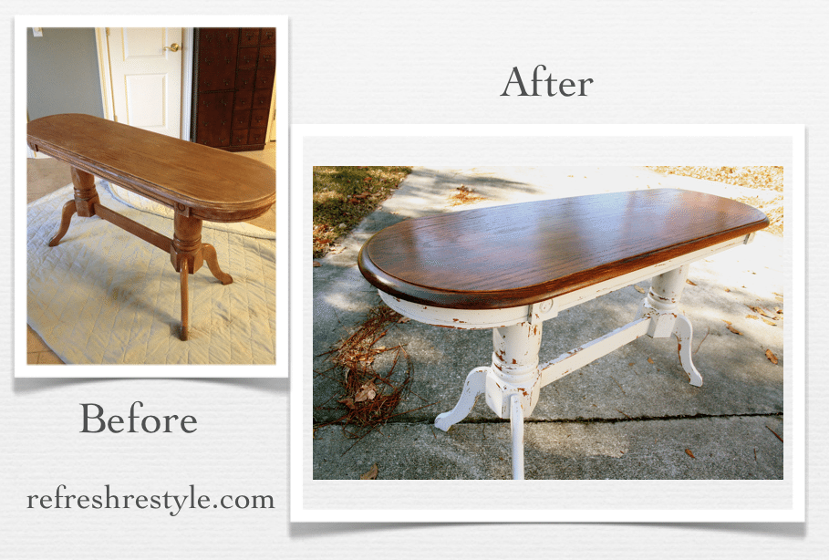 Miss Mustard Seed Grain Sack Oak Table From Drab To Fab