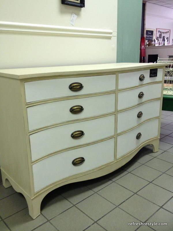 White drawers