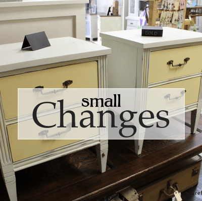 Small Changes – Refreshing refreshed Furniture