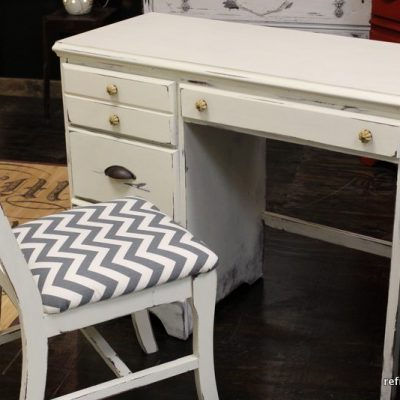 Chevron, Yellow and Gray Desk Refresh