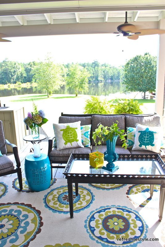 How to refresh your porch refresh restyle - Fresh blue deck furniture design ideas for relaxing outdoor rooms ...