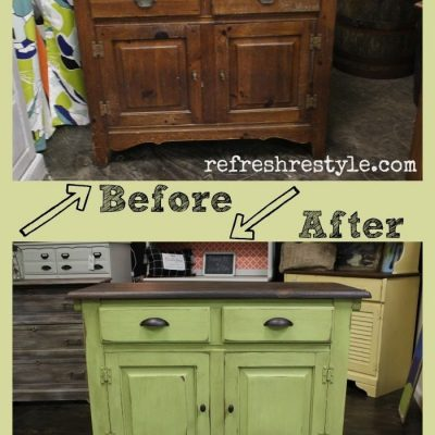 Small Buffet Makeover-with Paint