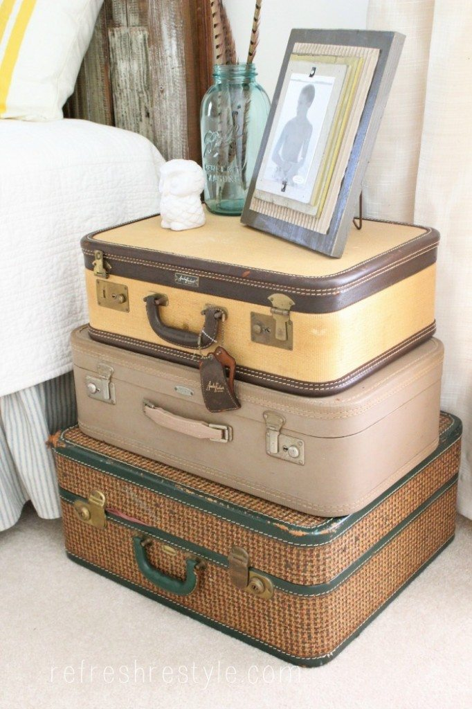 Suitcase side table #upcycle
