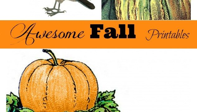 Fall Printables collage